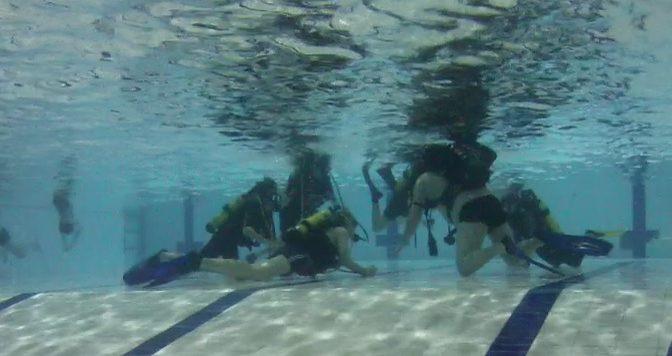 Seuran ensimmäinen Junior scubadiver kurssi