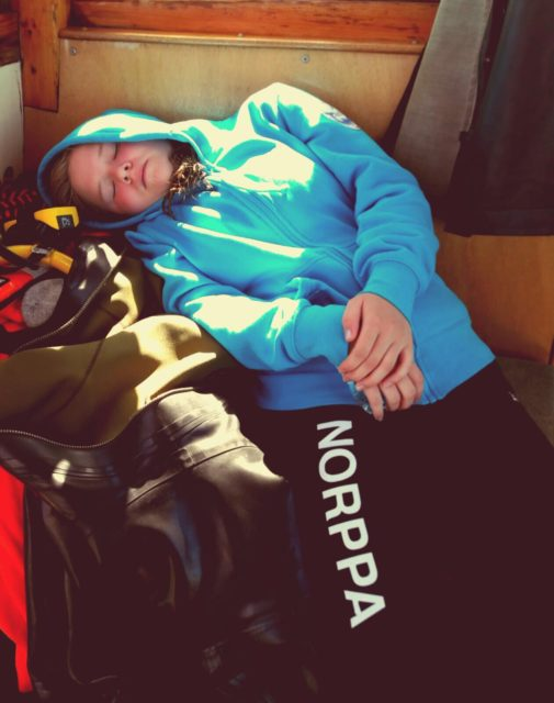 Väsynyt leiriläinen