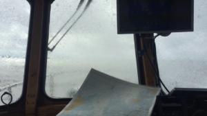 Sunnuntaina ei välillä nähnyt eteensä, kun aallot löivät Stean yli.