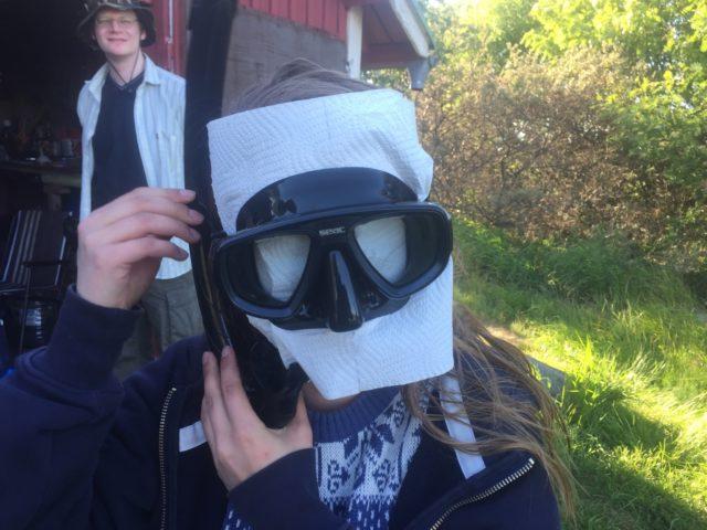 Sukelluspariin on luotettava vaikka olisi huono näkyvyys (Ida paperi maskissa)